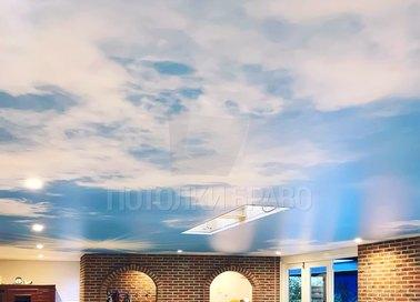 Сатиновый натяжной потолок с изображением неба НП-174 - фото 3