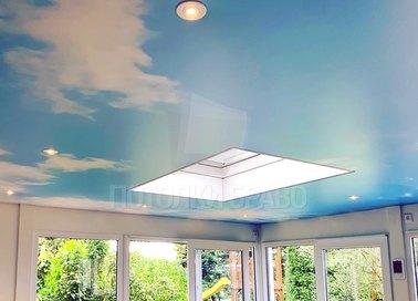 Сатиновый небесный натяжной потолок НП-175