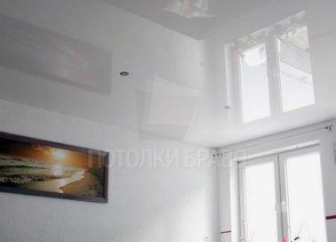 Белый глянцевый натяжной потолок НП-186 - фото 2