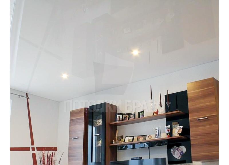 Белый глянцевый натяжной потолок НП-186 - фото 4