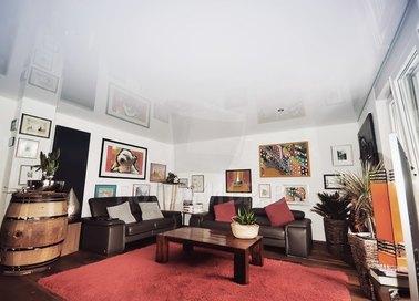 Глянцевый натяжной потолок для жилой комнаты НП-198 - фото 2