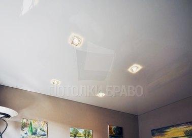 Белый глянцевый натяжной потолок НП-203 - фото 2