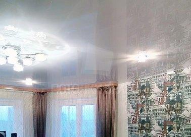 Современный зеркальный натяжной потолок НП-215