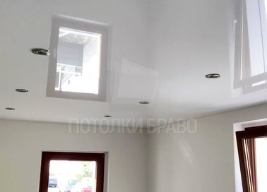 Сложный глянцевый натяжной потолок НП-236