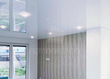 Глянцевый зеркальный натяжной потолок для кирпичного дома НП-263 - фото 5