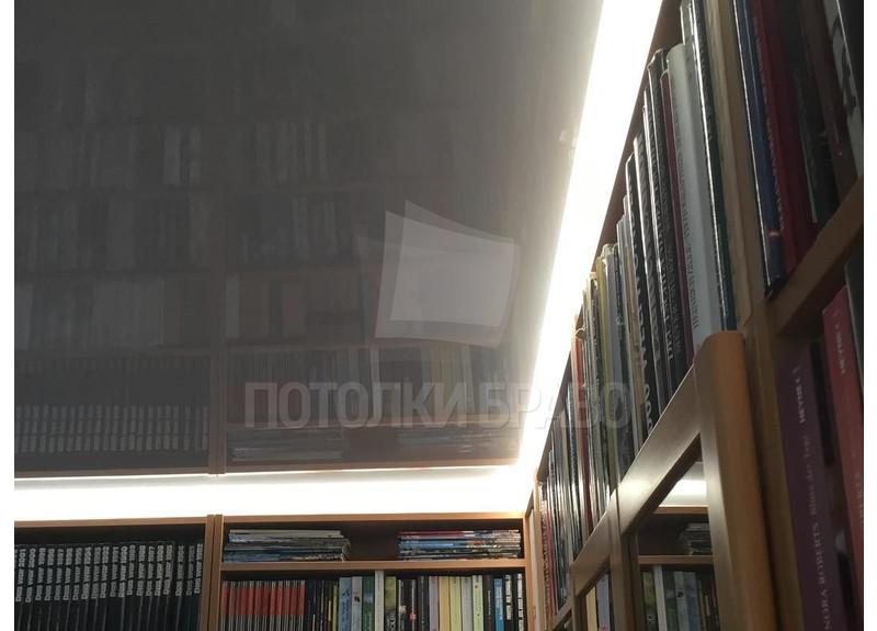 Глянцевый зеркальный натяжной потолок для комнаты НП-264 - фото 4