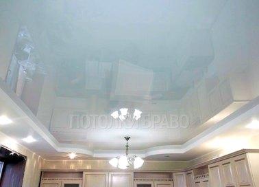 Глянцевый белый роскошный натяжной потолок НП-266
