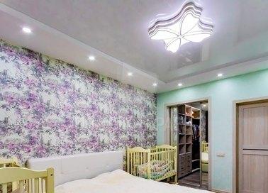 Сатиновый белый натяжной потолок в детскую НП-288 - фото 2