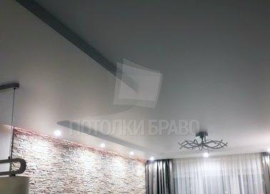 Фактурный серый матовый натяжной потолок НП-307