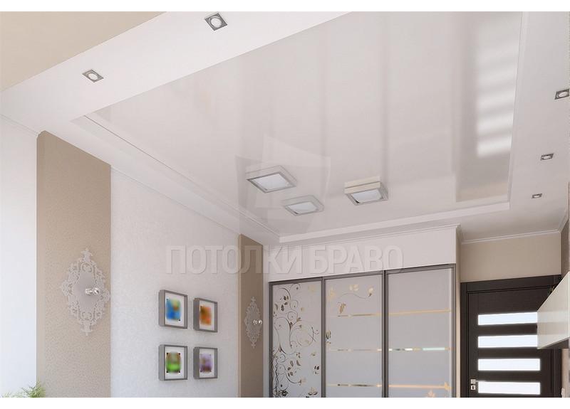 Бежево-белый натяжной потолок в стиле Прованс НП-320 - фото 2