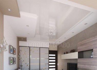 Бежево-белый натяжной потолок в стиле Прованс НП-320