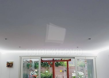 Серый матовый натяжной потолок с LED-диодами НП-323 - фото 2