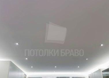 Серый матовый натяжной потолок с LED-диодами НП-323 - фото 4