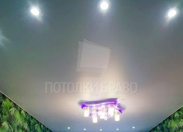 Сатиновый натяжной потолок в современном стиле НП-333 - фото 2