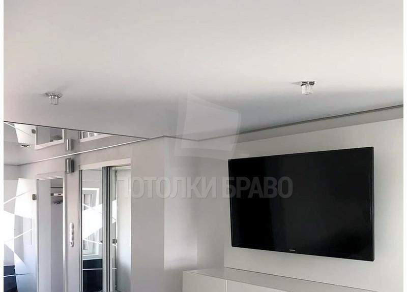 Матовый натяжной потолок в стиле Хай-Тек НП-334
