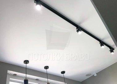 Матовый натяжной потолок в стиле Хай-Тек НП-338
