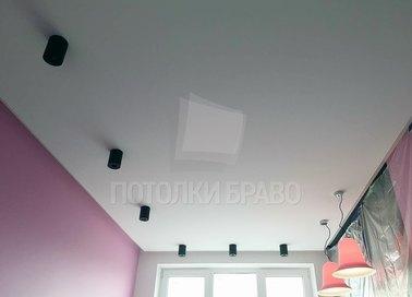 Современный классический матовый натяжной потолок НП-340