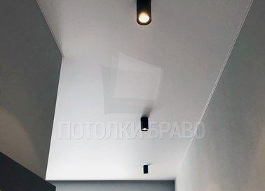 Чёрный матовый натяжной потолок в стиле Лофт НП-348 - фото 2