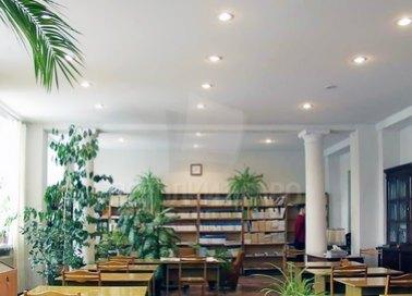 Сатиновый натяжной потолок для библиотеки НП-352