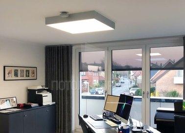 Серый матовый натяжной потолок для офиса НП-359