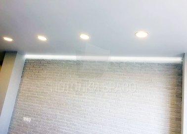 Матовый натяжной потолок с подсветкой в стиле Лофт НП-362 - фото 2