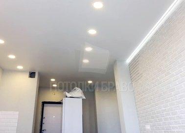 Матовый натяжной потолок с подсветкой в стиле Лофт НП-362