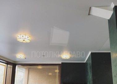 Строгий матовый белый натяжной потолок НП-367