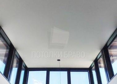 Обычный матовый натяжной потолок для балкона НП-376