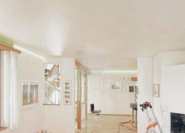 Матовый бежевый натяжной потолок для кирпичного дома НП-384 - фото 2