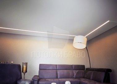 Матовый белый натяжной потолок в стиле модерн НП-401