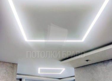 Белый матовый натяжной потолок в общественное помещение НП-403 - фото 2