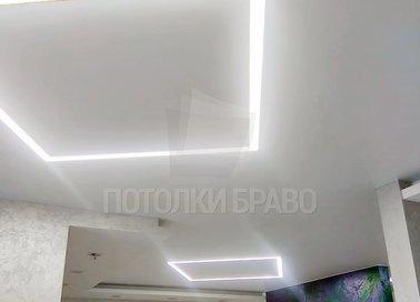 Белый матовый натяжной потолок в общественное помещение НП-403