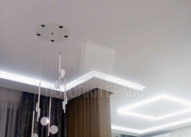 Матовый натяжной потолок в жилую комнату НП-407