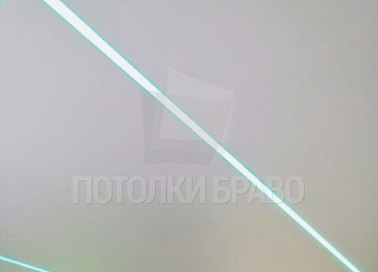 Матовый натяжной потолок с разноцветной подсветкой НП-409 - фото 2