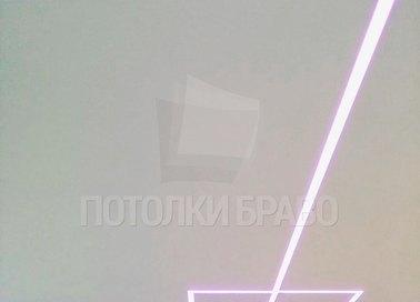 Матовый натяжной потолок с разноцветной подсветкой НП-409 - фото 3