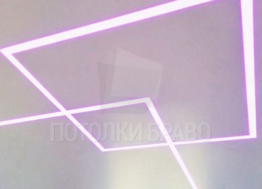Матовый натяжной потолок с разноцветной подсветкой НП-409 - фото 4