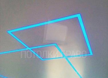 Матовый натяжной потолок с разноцветной подсветкой НП-409