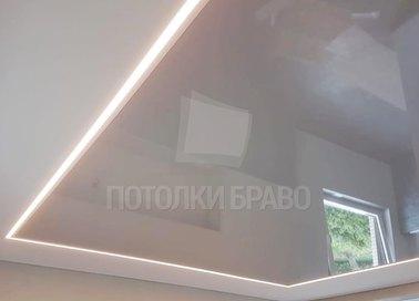 Матовый натяжной потолок в стиле Арт-деко в дом НП-412 - фото 3