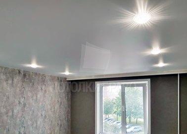Сатиновый натяжной потолок с LED-освещением НП-421