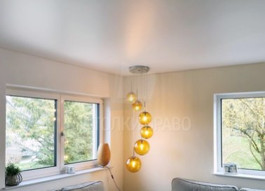 Классический серый сатиновый натяжной потолок НП-433 - фото 2