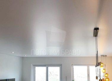 Классический серый сатиновый натяжной потолок НП-433