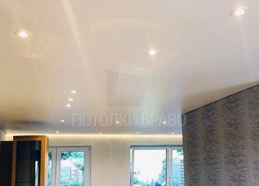 Сатиновый натяжной потолок с подсветкой по периметру НП-439 - фото 2