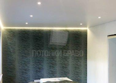 Сатиновый натяжной потолок с подсветкой по периметру НП-439 - фото 4