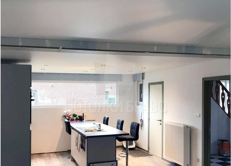 Сатиновый белый натяжной потолок для квартиры-студии НП-448 - фото 3
