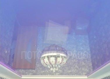 Фиолетовый глянцевый натяжной потолок НП-490