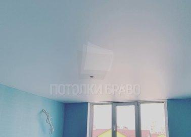 Матовый голубой натяжной потолок НП-495