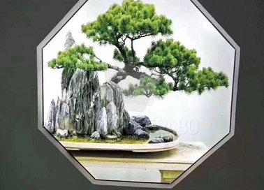 Матовый натяжной потолок с изображением дерева НП-514