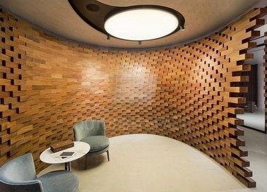 Глянцевый двуцветный Арт-деко натяжной потолок НП-1827 - фото 2