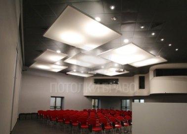 Матовый натяжной черный потолок в холл НП-544