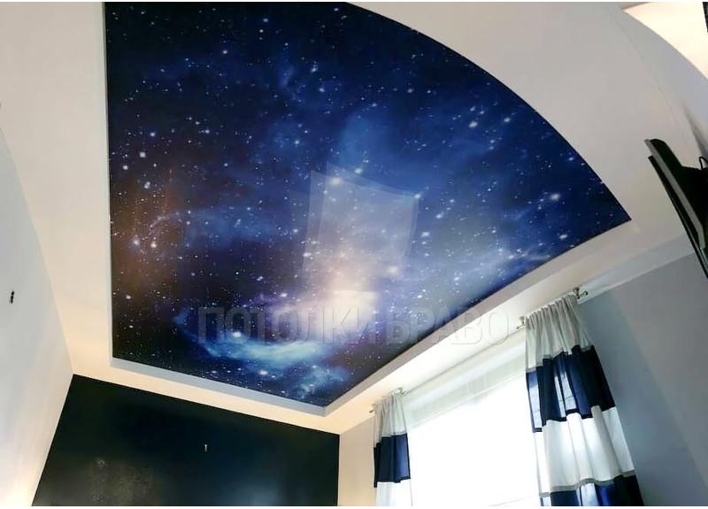 Матовый натяжной потолок со звездным небом НП-558 - фото 2